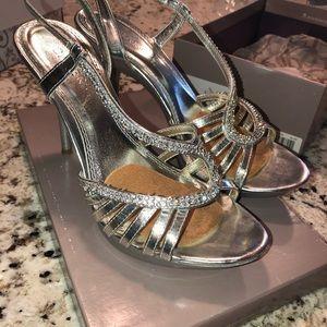 Bakers Silver embellished formal shoes